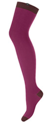 Minga Berlin Fuchsia Over the Knee Socks - The Colors Purple Chocolate OTK