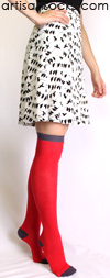Minga Berlin Red Over the Knee Socks - The Colors Stonecold Fire OTK