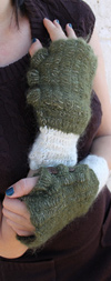 Sage Mohair Arm Warmers With Buttons