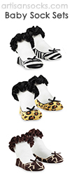 Mud Pie Baby Socks Set - Animal Print (3 pairs)