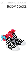Mud Pie Wild Child Zebra Socks with Ruffle and Bow