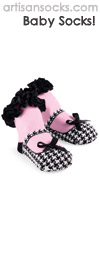 Mud Pie Baby Socks - Houndstooth Mary Jane Shoe Baby Socks