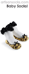 Mud Pie Baby Socks - Natalie Cheetah Baby Sock with Bow and Ruffle