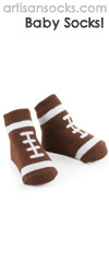 Mud Pie Baby  Socks -  Brown Football Baby Socks