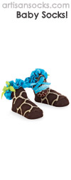 Mud Pie Giraffe Print Baby Socks with Ruffle and Bow
