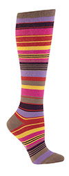 Multi Color Striped Knee High Socks