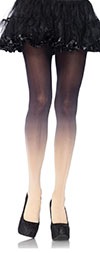 Ombre Tights in Opaque Black / Nude