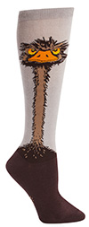 Women's Ostrich Knee High Socks