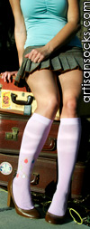 Bling Parme Knee High Knee Socks