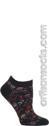 Cut Out Flowers Charcoal Ankle Socks