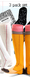 Back to School 3-Pack Knee Highs from Ashi Dashi