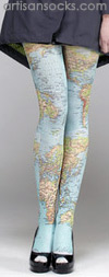 Map of the World Tights - Map Tights as seen on Pinterest!