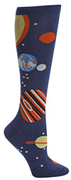 Planets Knee High Novelty Socks