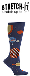 Planets Knee High Knee High Socks (STRETCH-IT Extra Stretchy Version)
