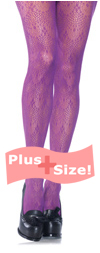 Plus Size Purple Chandelier Lace Tights