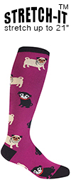 Pug Life Knee High Socks (STRETCH-IT Extra Stretchy Version)