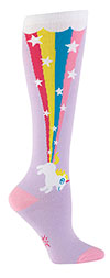 Rainbow Blast Unicorn Knee High Socks-From Sock it to Me