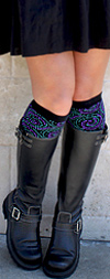 RocknSocks Garcia Midnight Swirl Cotton Knee High Knee Socks