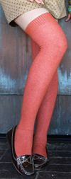 RocknSocks Spice Orange Solid Color Over the Knee Socks - OTK