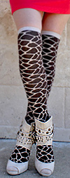 RocknSocks Tan and Brown Giraffe Print Over the Knee Socks - OTK