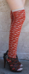 RocknSocks Spice Orange Giraffe Print Over the Knee Socks - OTK