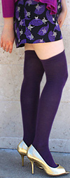 RocknSocks Purple Solid Color Over the Knee Socks - OTK
