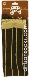 c517cd3858f RocknSocks Slick Coffee Vertical Striped Over the Knee Socks (OTK)
