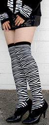 RocknSocks Zebra Print Over the Knee Socks - OTK