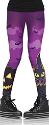 Scaredy Cat Purple Leggings