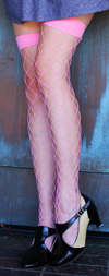 Sexy Fence Net Fishnet Thigh Highs Light Pink