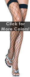 Sexy Fence Net Fishnet Thigh Highs Black