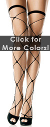 Sexy Jumbo Fishnet Thigh Highs Black