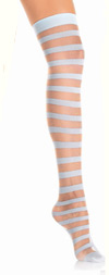 Sexy Sheer Stripe Thigh Highs- in 2 Colors! Light Blue