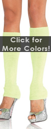 Ribbed Leg Warmers in Neon Colors Neon Green