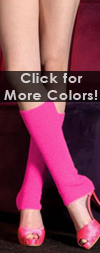 Ribbed Leg Warmers in Neon Colors Neon Pink