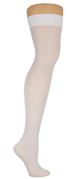 Solid Color Thigh High Stockings- in 5 Color Choices! White