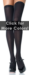 Solid Color Thigh High Stockings- in 5 Color Choices! Black