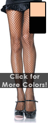 Sexy Fishnet Stockings - Nude Fishnets / Black Fishnets