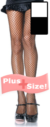 Sexy Plus Size Fishnet Stockings White