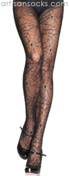 Sexy Stockings Black Lace Spiderweb Tights Black