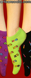 Sock It To Me Kiss 3pack Novelty Cotton Anklet / Ankle Socks