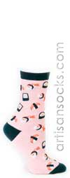 Sock It To Me Sushi Novelty Cotton Crew Socks (Calf Socks)