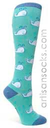 Sock It To Me Whale Socks: Knee High Socks with Whales