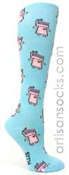 Sock It To Me Etta-tron! Novelty Cotton Knee High Knee Socks