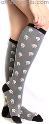 Sock It To Me Day of the Dead Knee High Knee Socks