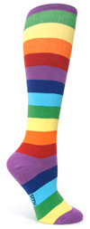 Sock It To Me Super Juicy Rainbow Knee High Knee Socks