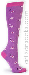 Sock it to Me Pink Elephant Purple Knee High Sock
