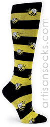 Sock it to Me Bumble Bee Striped Knee High Sock