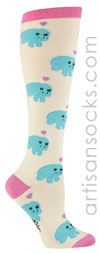 Sock it to Me Manatee Knee High Socks