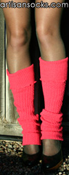 Sock It To Me Pink Solid Color Cotton Leg Warmer